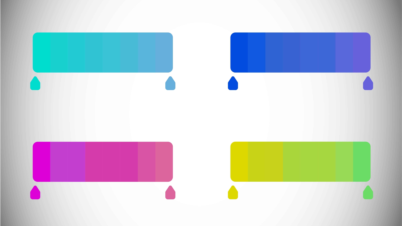 Avoid gradients in your logo design