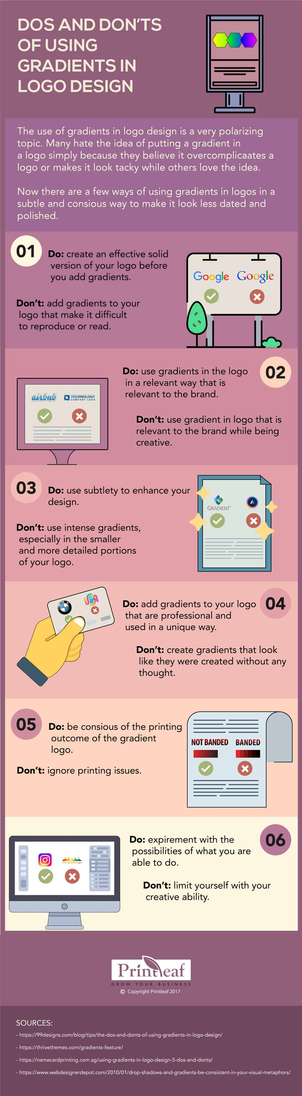 Gradients Do's and Dont's [Infographic]