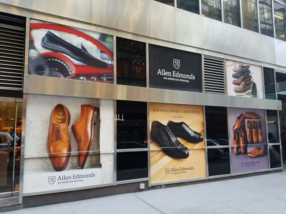 shoe store custom decals printing new york city