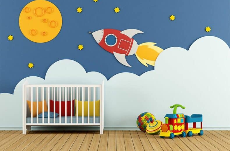 Decor For Your Darling: 5 Wall Mural Ideas For Your Nursery Wall Decor