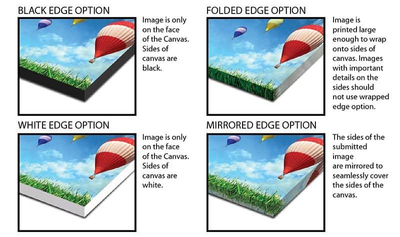 edge options for acrylic print