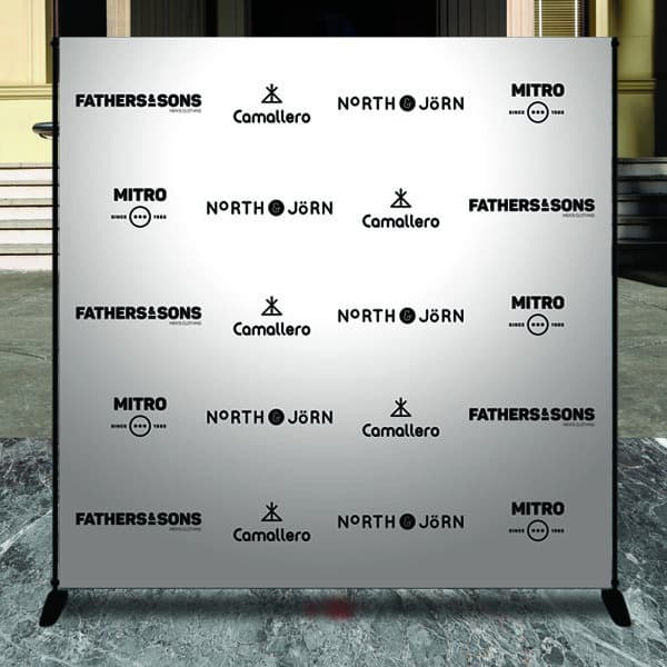Step and repeat banners come in different sizes.