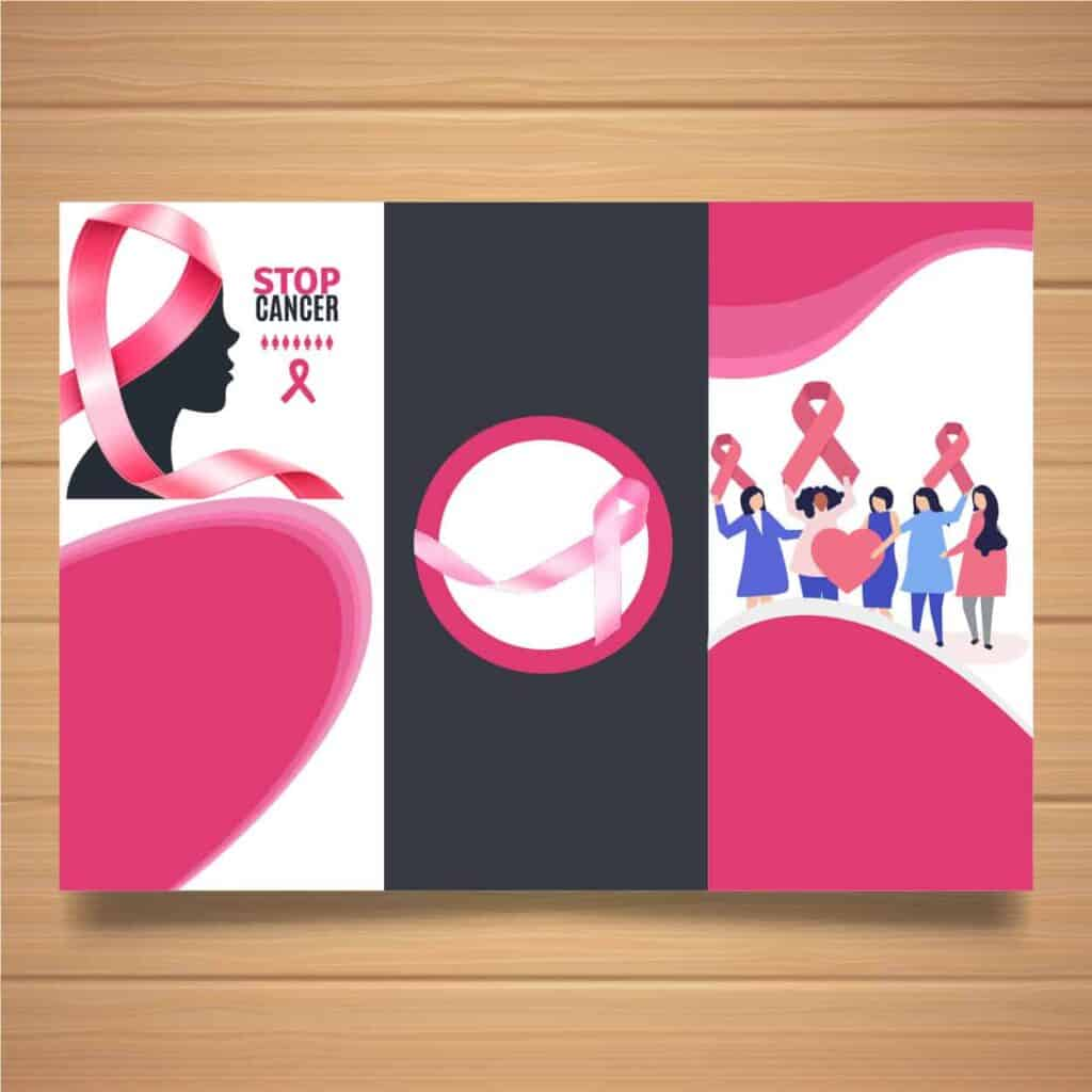 Brochure for breast cancer awareness event