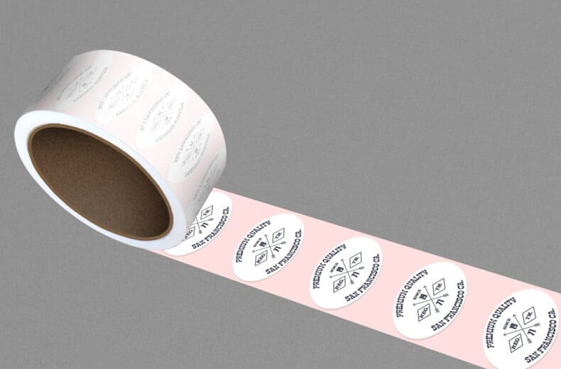 Custom oval labels for events and businesses