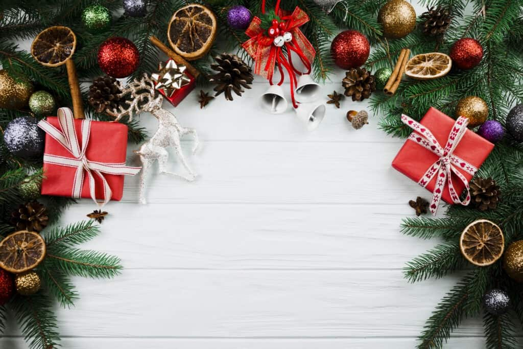 Color and themes are important in decorating your store for the holidays