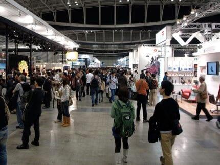 Busy trade show floor