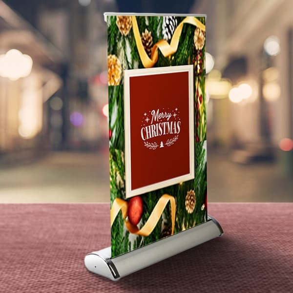 Tabletop retractable banners are simple, sleek, and stylish