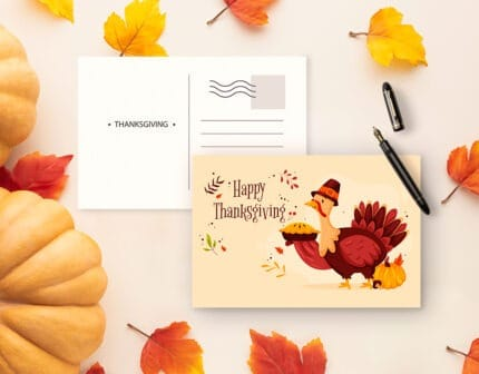 Custom printed postcards are great for giving out during holidays
