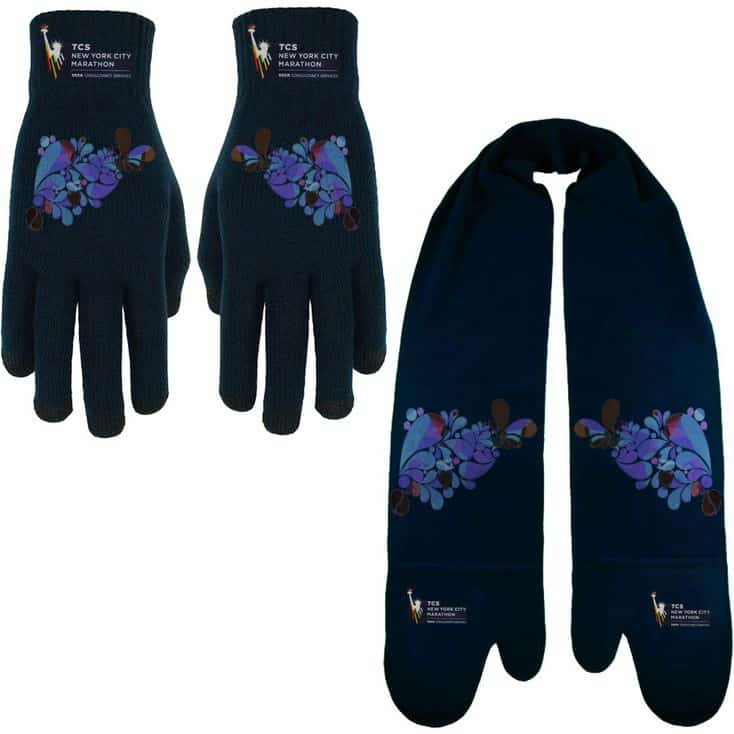 Custom scarves and glove to show off your brand and keep your employees warm