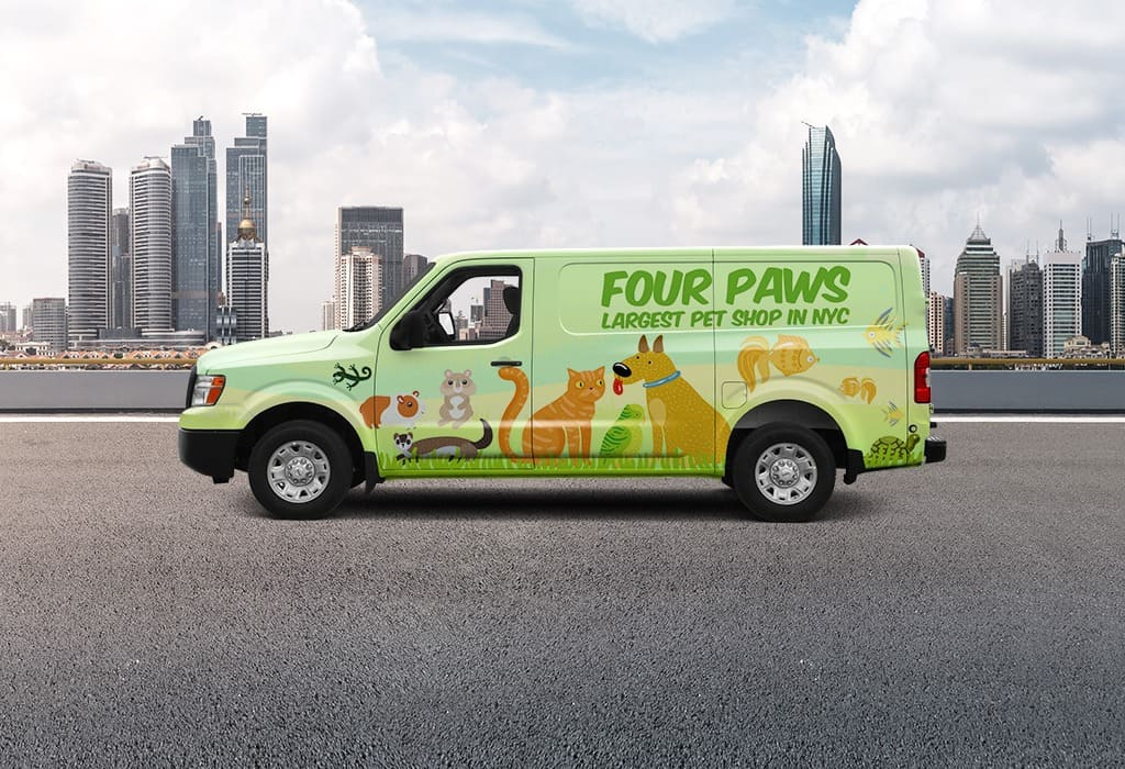 Vehicle wraps make your business visible all year long with little maintenance