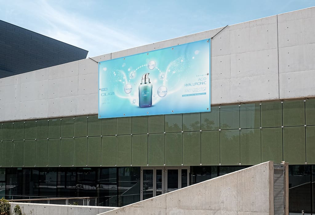 Make a larger statement with vinyl banners on the side of your store location.