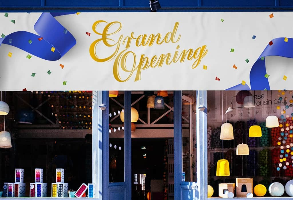 Vinyl banners make great grand opening signage for your store.